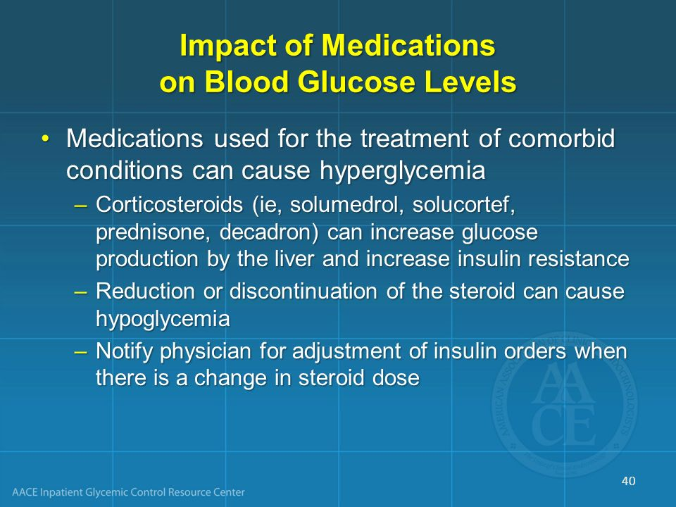 Impact of Medications on Blood Glucose Levels