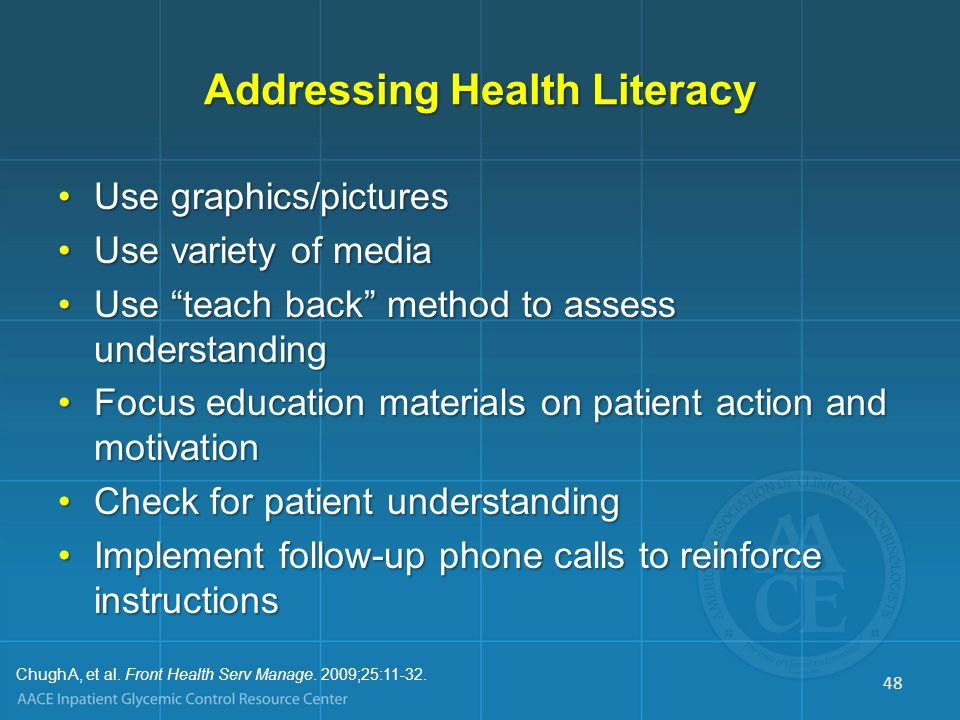 Addressing Health Literacy