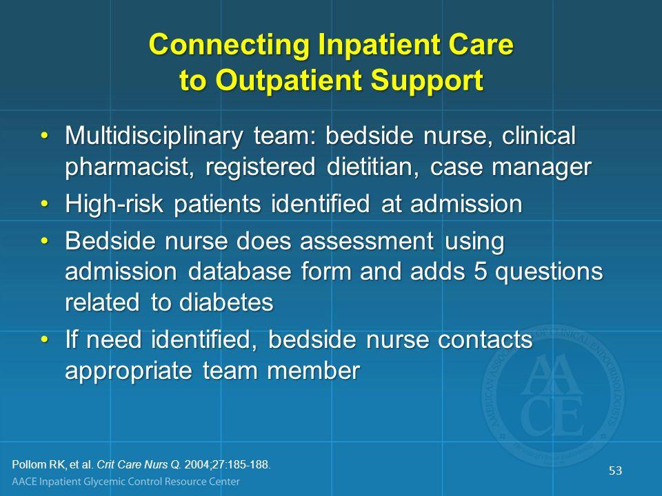 Connecting Inpatient Care to Outpatient Support
