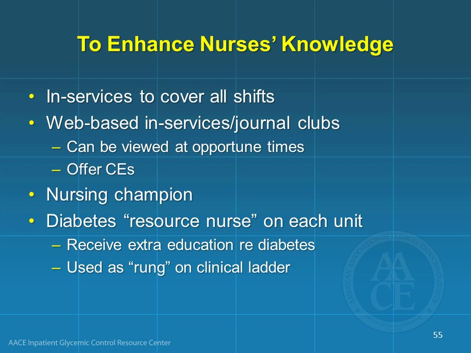 To Enhance Nurses' Knowledge