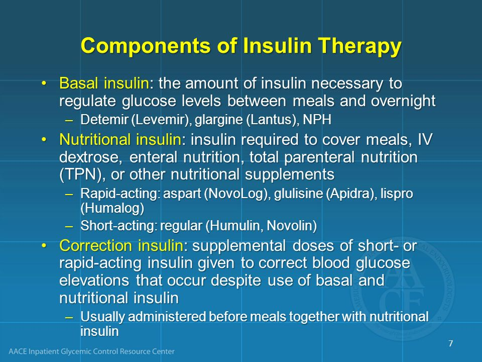 Components of Insulin Therapy