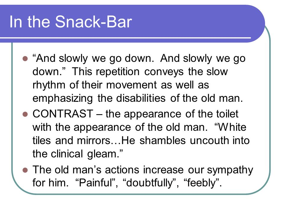 In the Snack-Bar