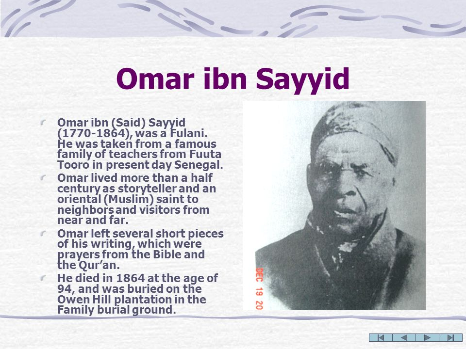 Omar ibn Sayyid