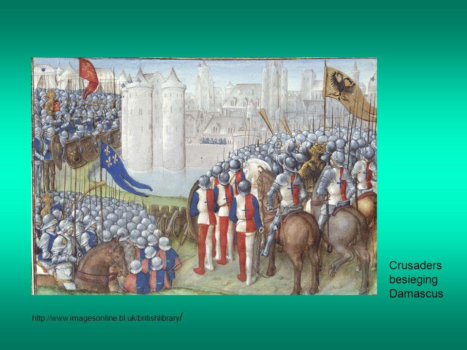 Crusaders besieging Damascus