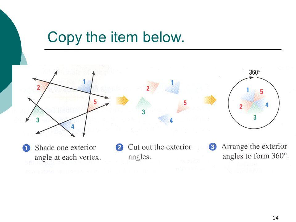 Copy the item below.