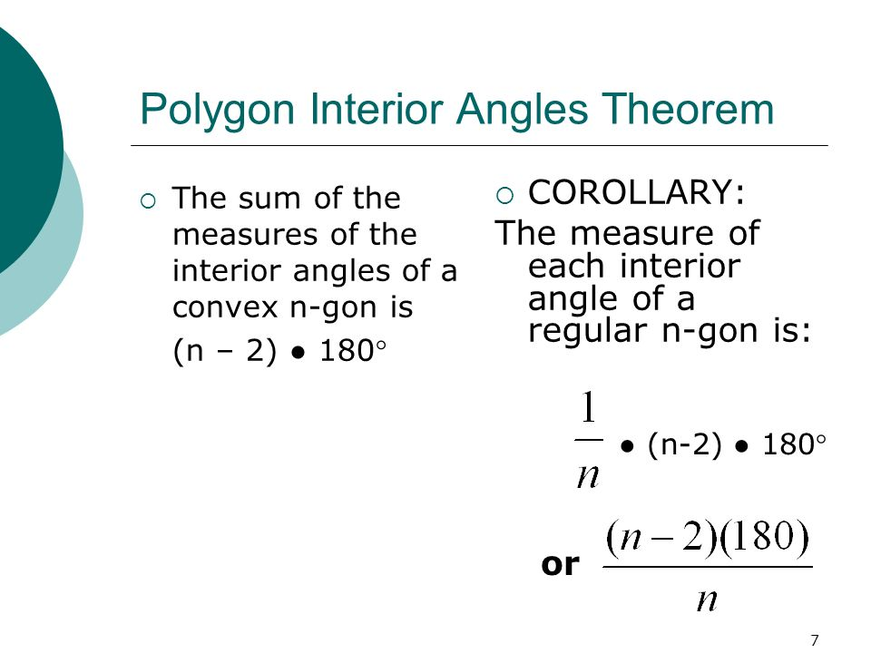 Polygon Interior Angles Theorem