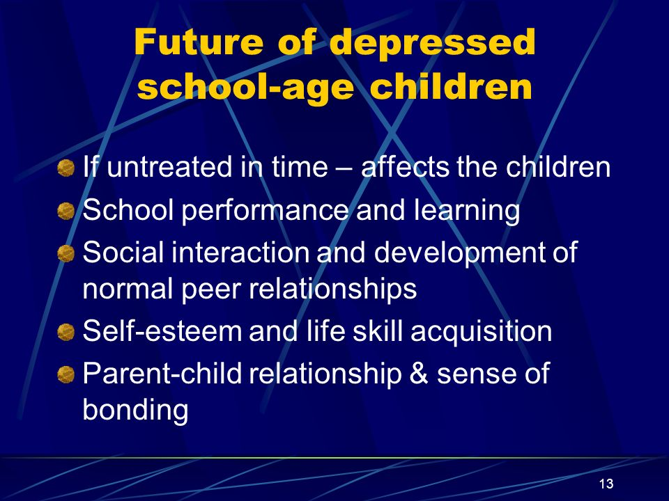 Future of depressed school-age children