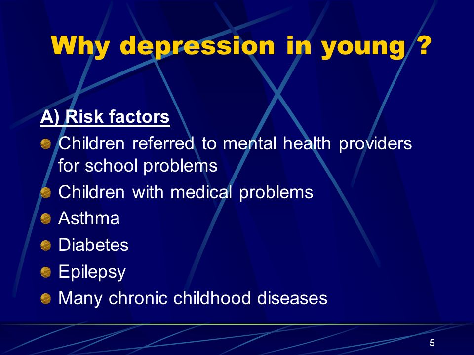 Why depression in young