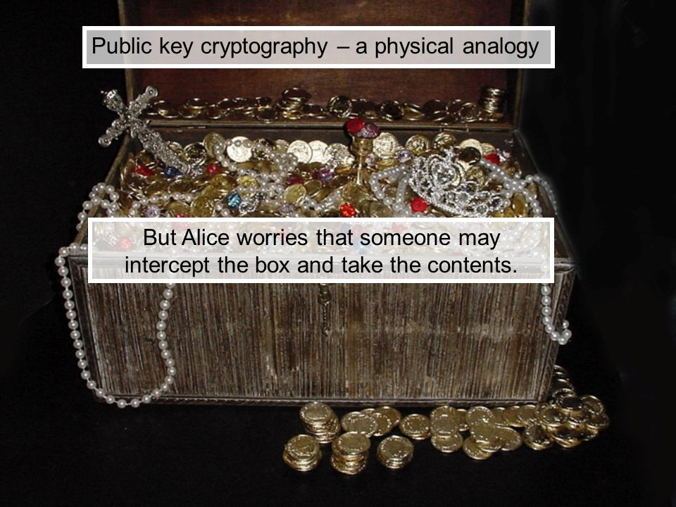 Public key cryptography – a physical analogy