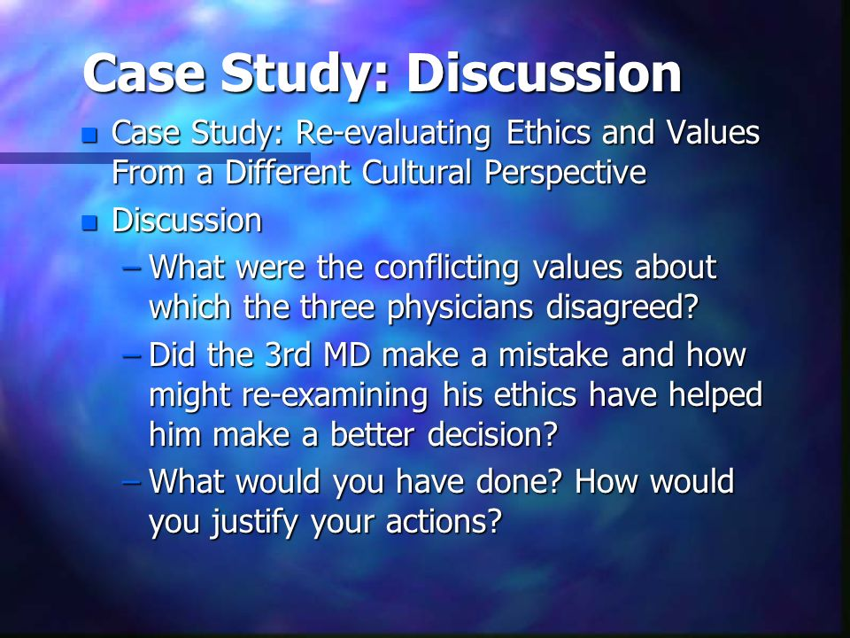 Case Study: Discussion