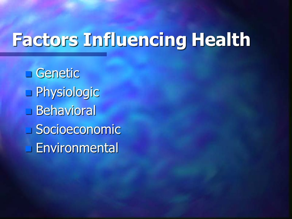 Factors Influencing Health
