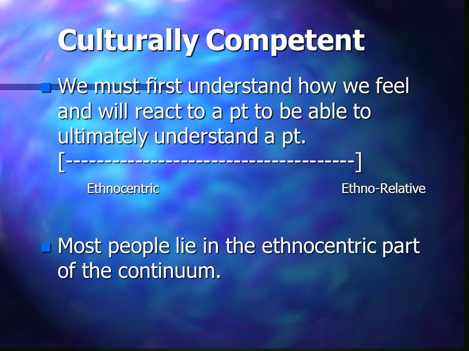Culturally Competent