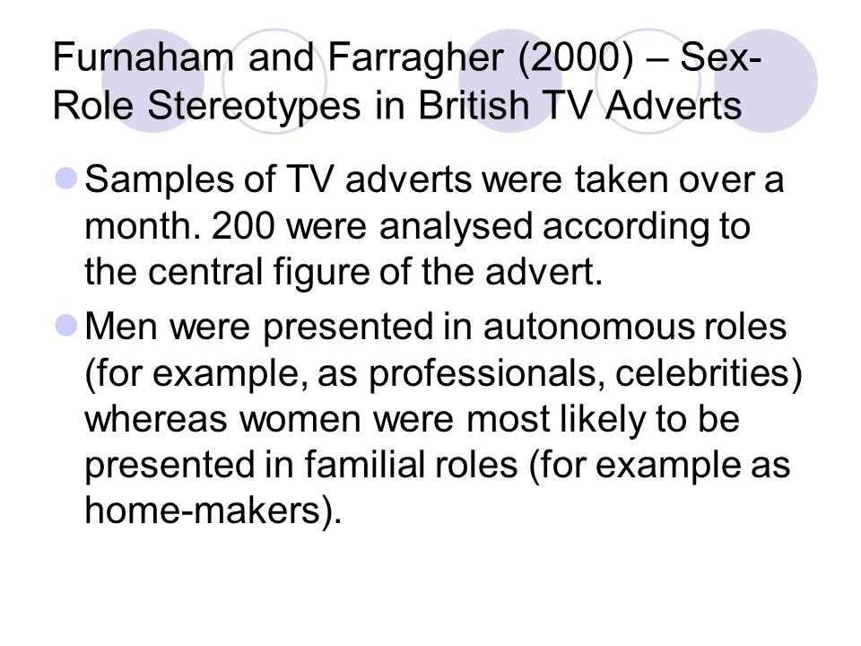Furnaham and Farragher (2000) – Sex-Role Stereotypes in British TV Adverts