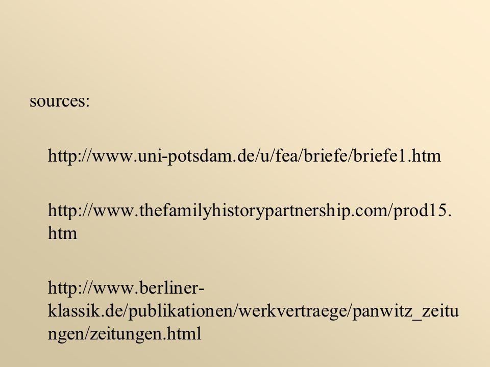 sources: http://www.uni-potsdam.de/u/fea/briefe/briefe1.htm. http://www.thefamilyhistorypartnership.com/prod15.htm.