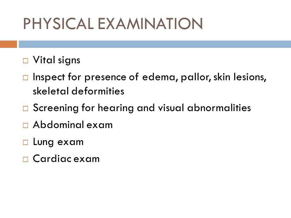 PHYSICAL EXAMINATION Vital signs