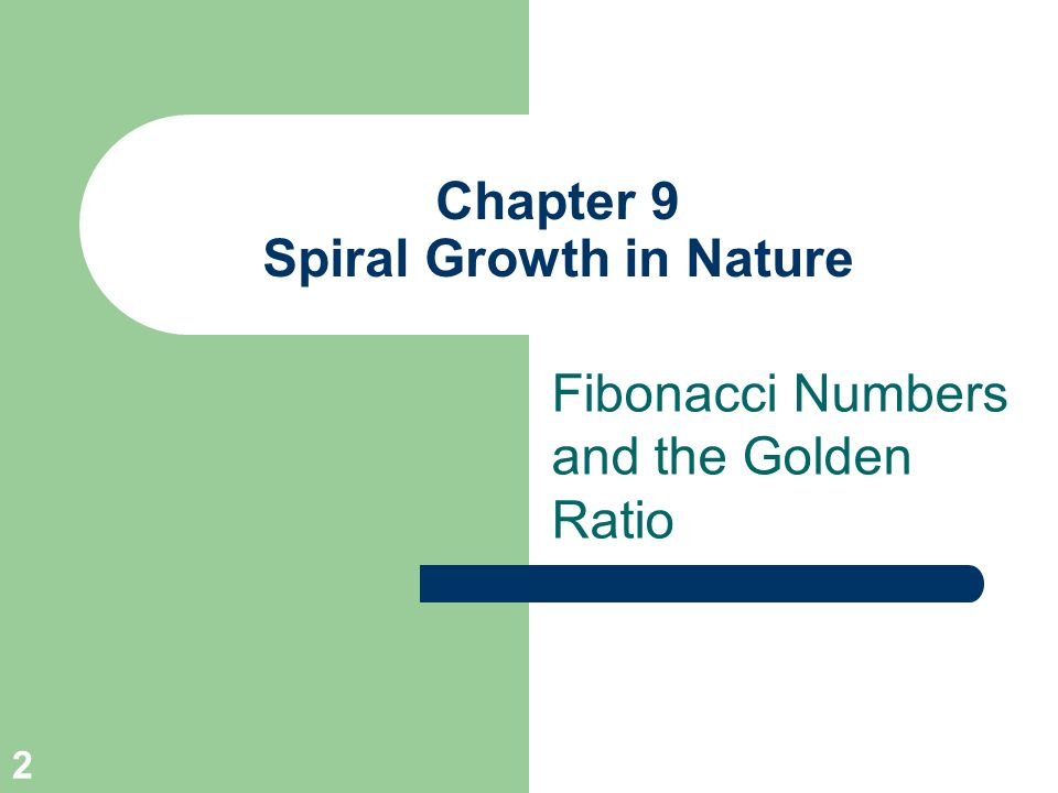 Chapter 9 Spiral Growth in Nature