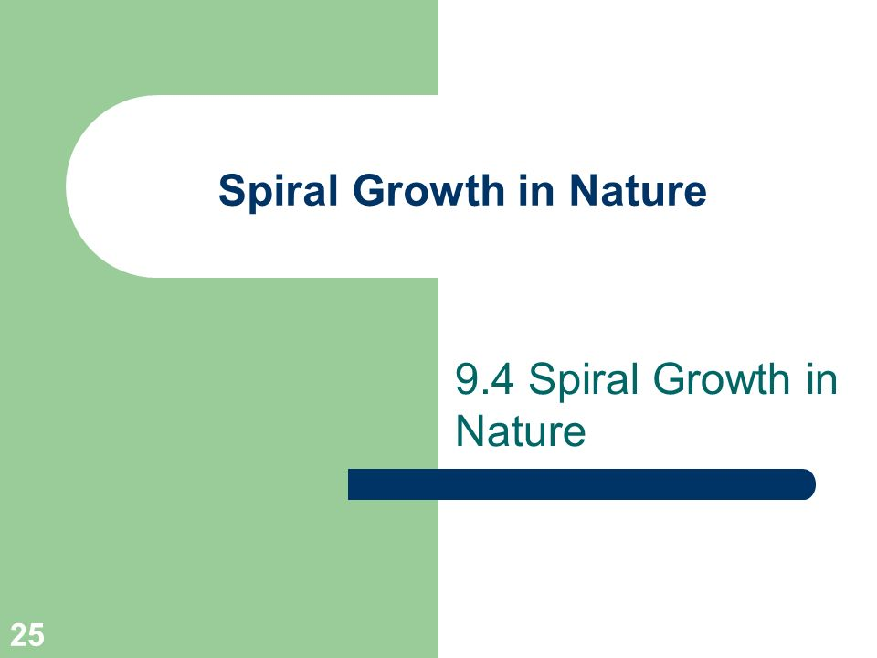 Spiral Growth in Nature