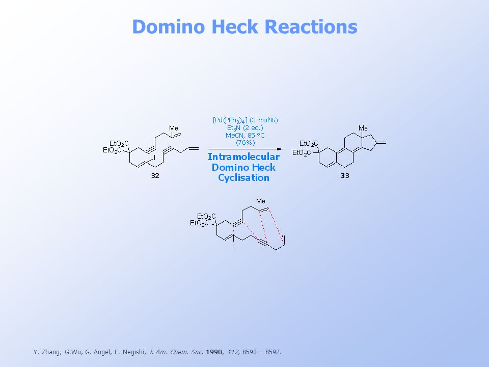 Domino Heck Reactions Y. Zhang, G.Wu, G. Angel, E.