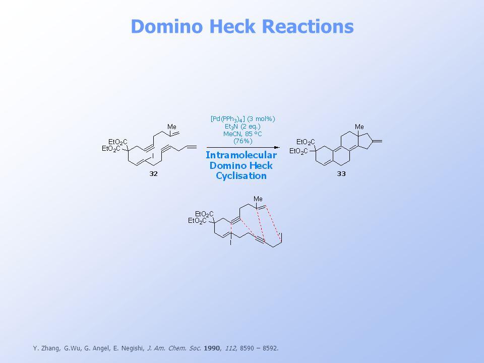 Domino Heck Reactions Y. Zhang, G.Wu, G. Angel, E.
