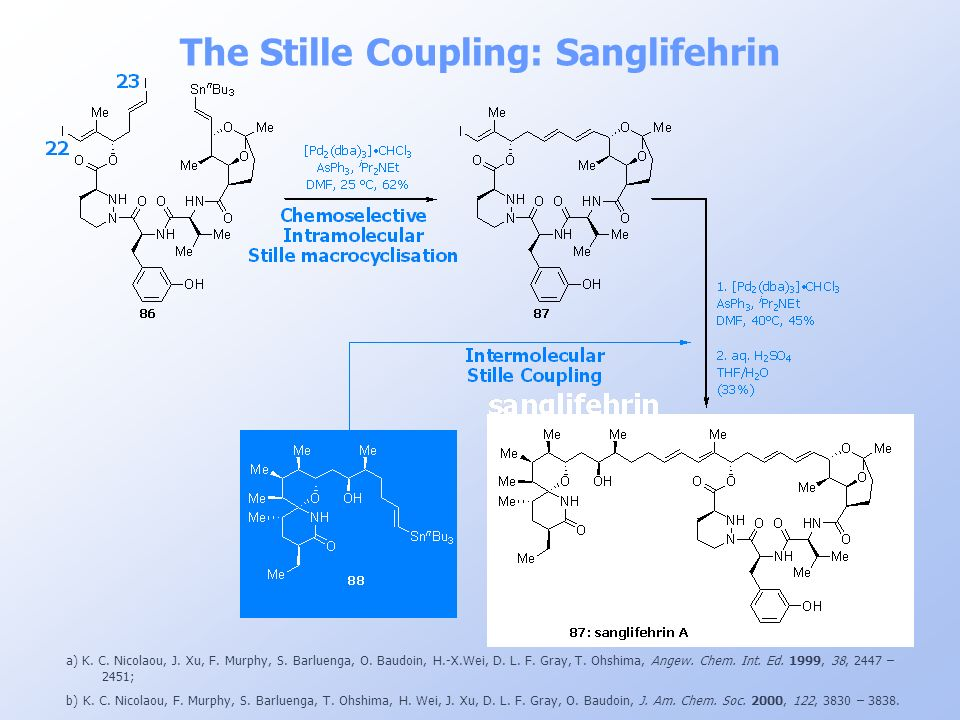 The Stille Coupling: Sanglifehrin