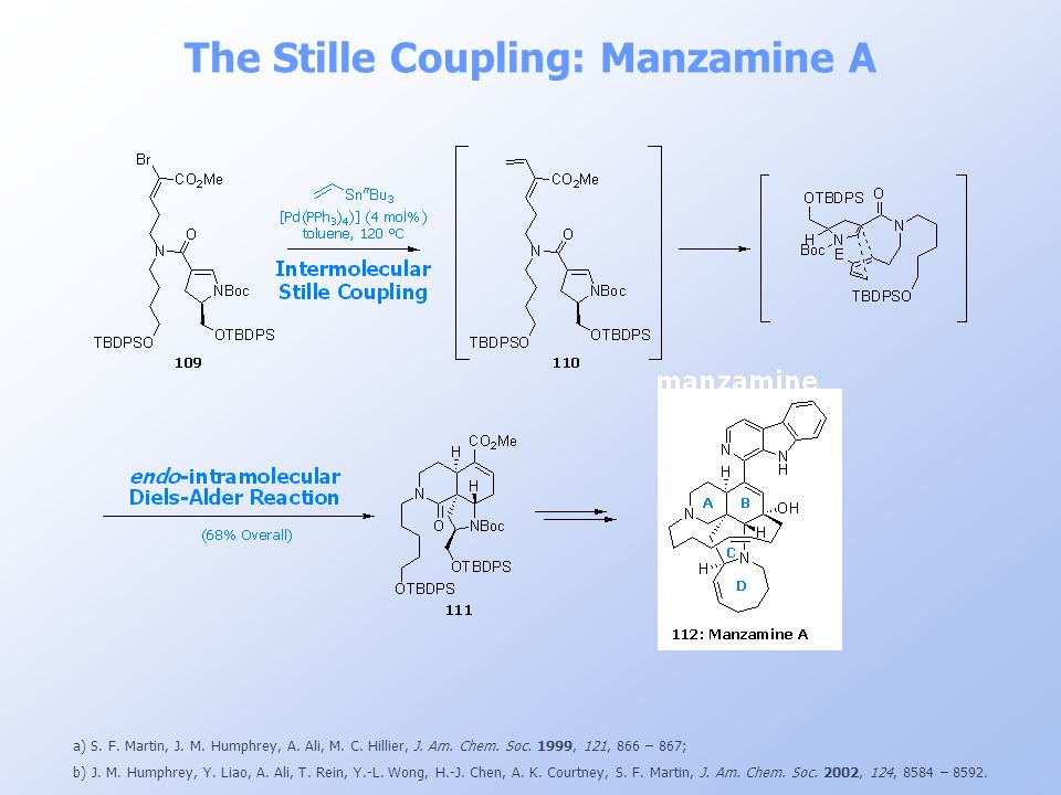 The Stille Coupling: Manzamine A