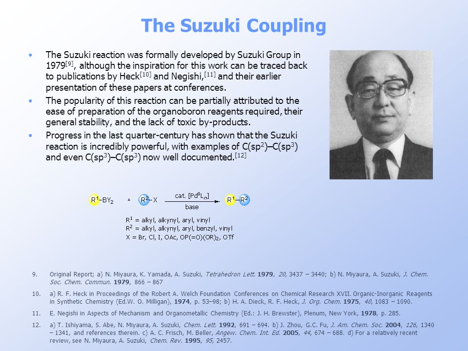 The Suzuki Coupling