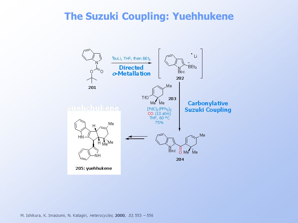 The Suzuki Coupling: Yuehhukene
