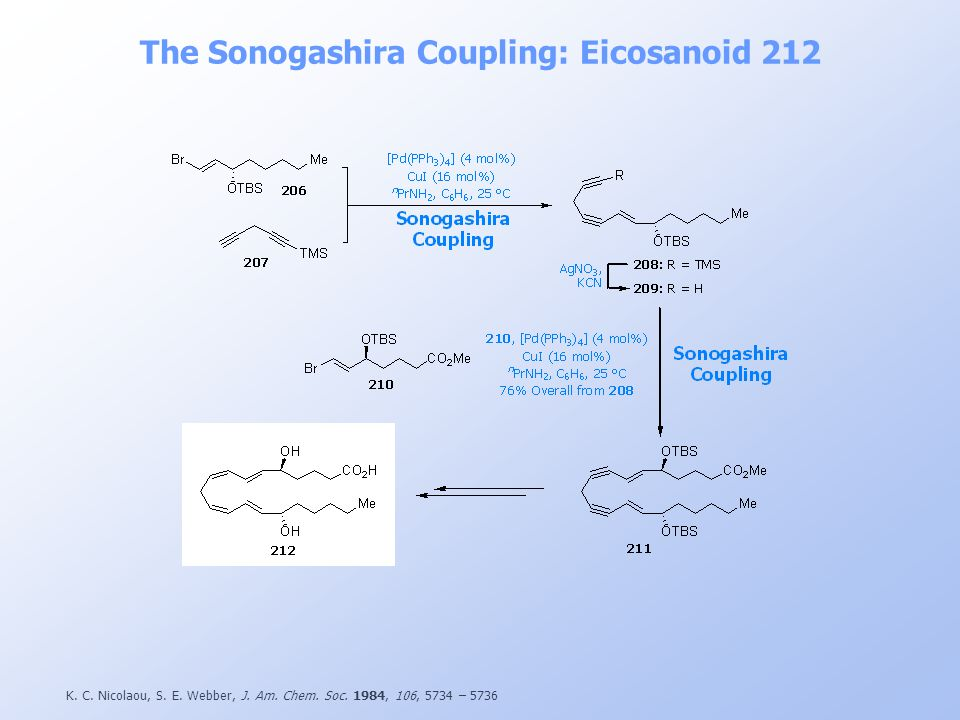 The Sonogashira Coupling: Eicosanoid 212