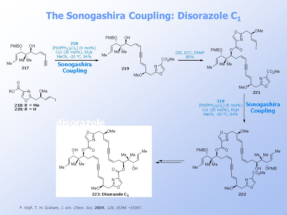 The Sonogashira Coupling: Disorazole C1