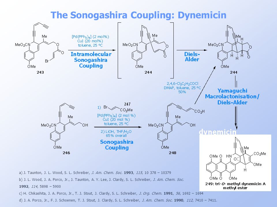The Sonogashira Coupling: Dynemicin