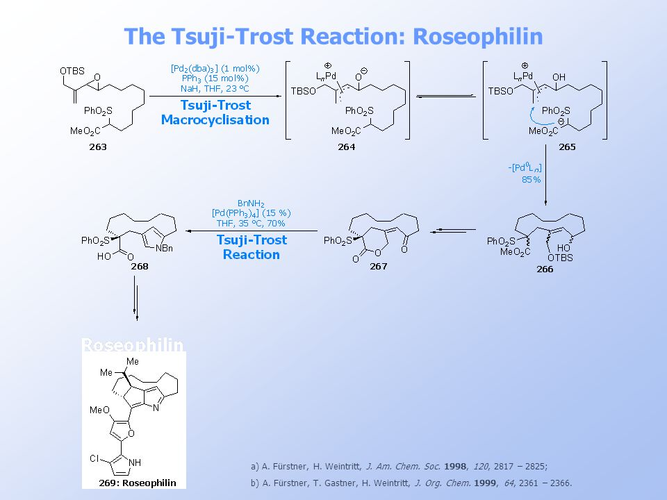 The Tsuji-Trost Reaction: Roseophilin
