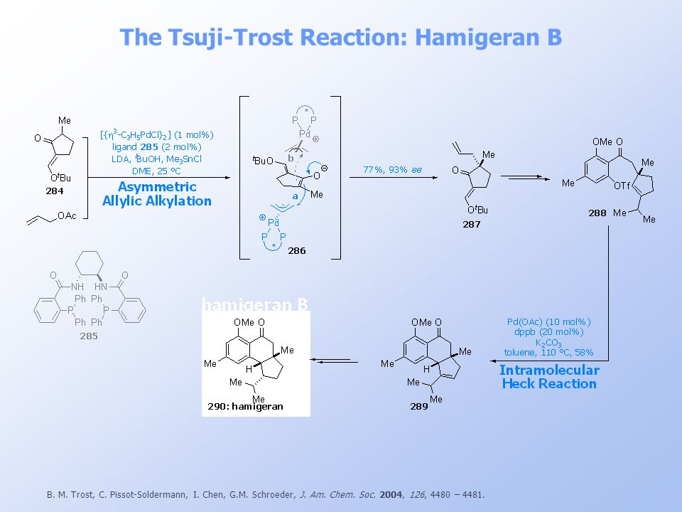 The Tsuji-Trost Reaction: Hamigeran B