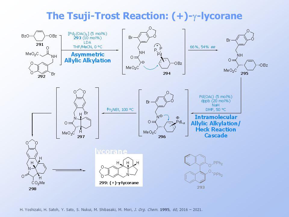 The Tsuji-Trost Reaction: (+)-g-lycorane