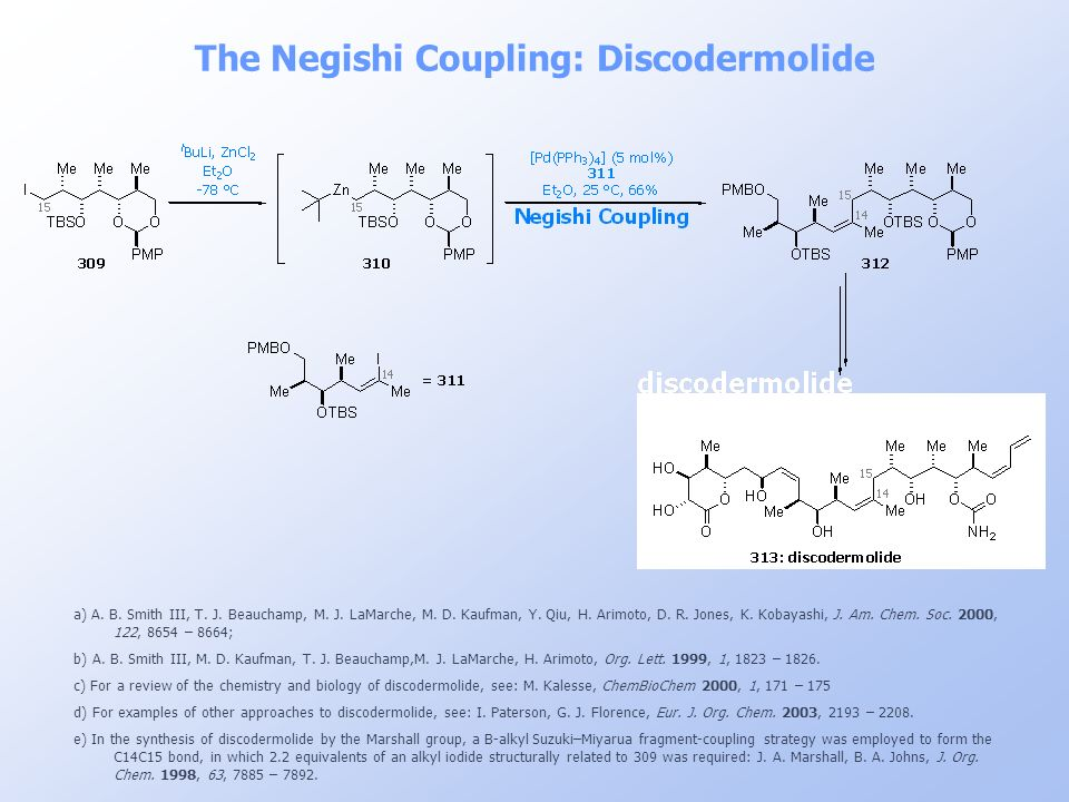 The Negishi Coupling: Discodermolide