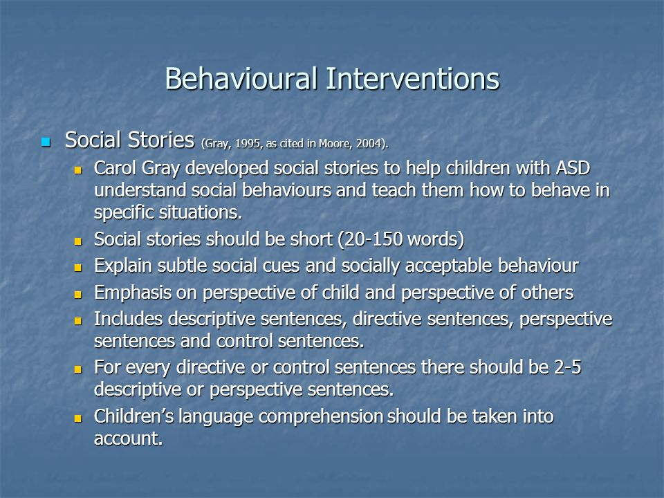 Behavioural Interventions