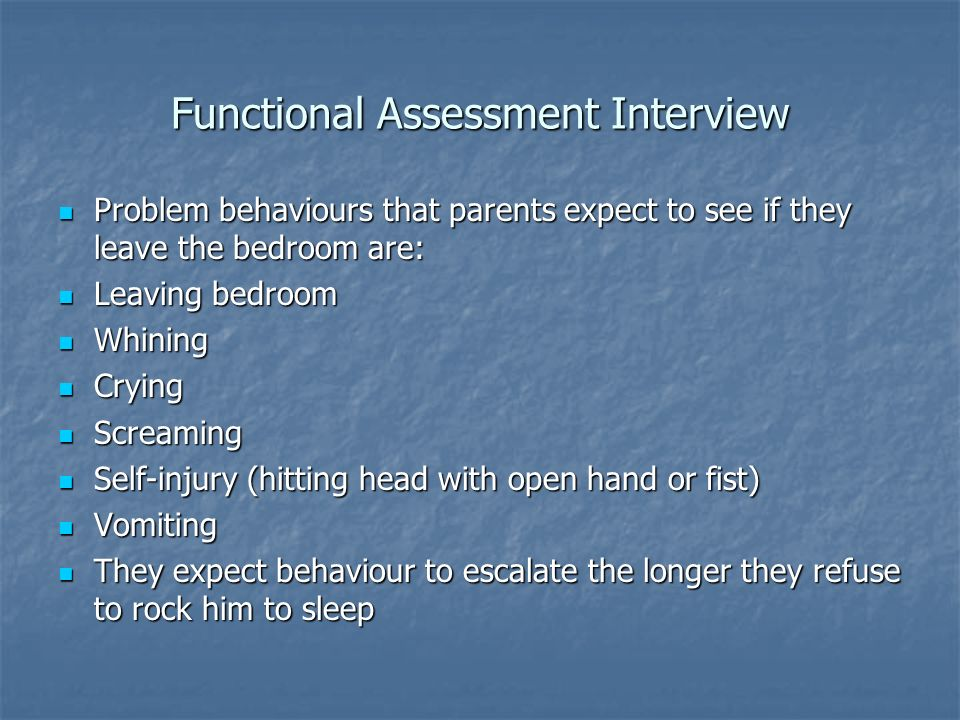 Functional Assessment Interview