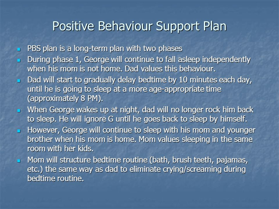 Positive Behaviour Support Plan