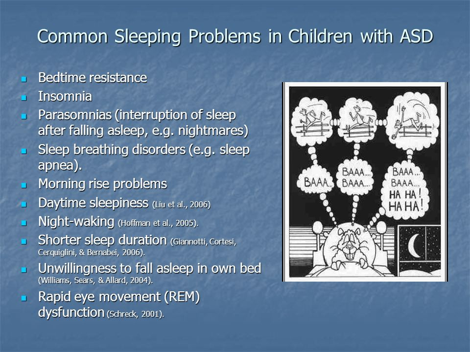 Common Sleeping Problems in Children with ASD