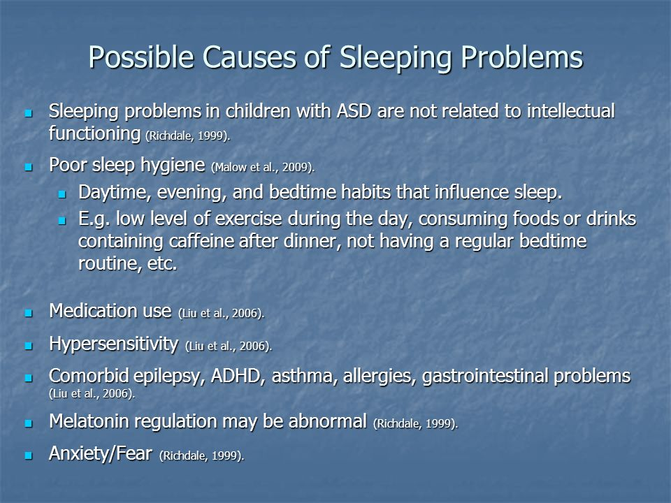 Possible Causes of Sleeping Problems