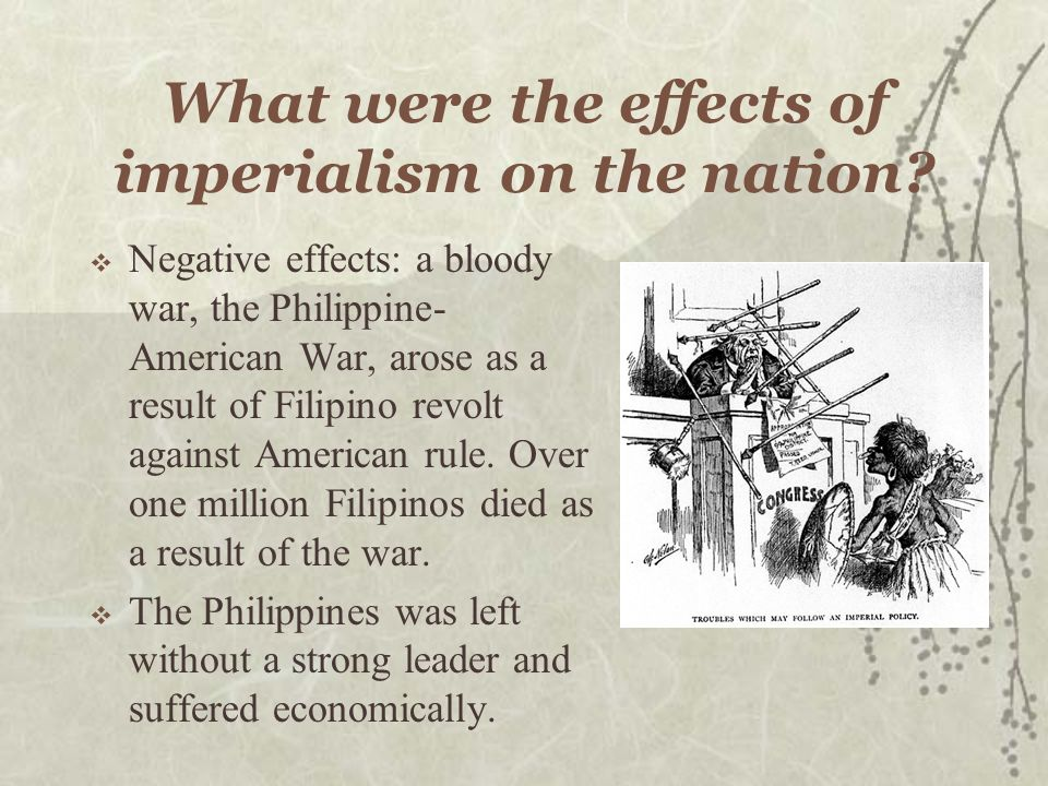 What were the effects of imperialism on the nation