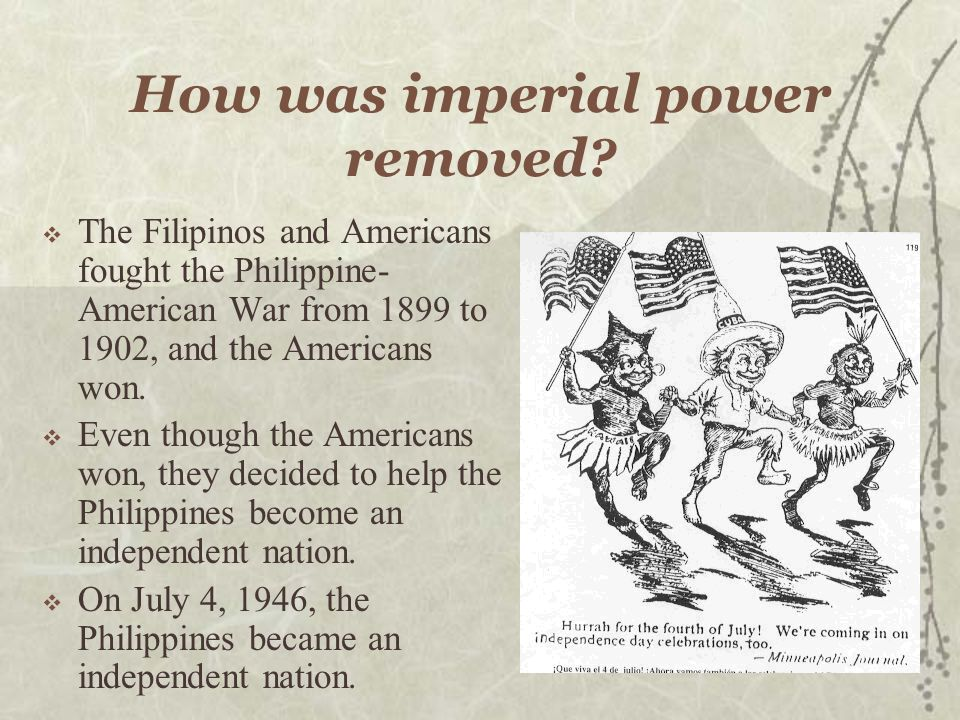 How was imperial power removed