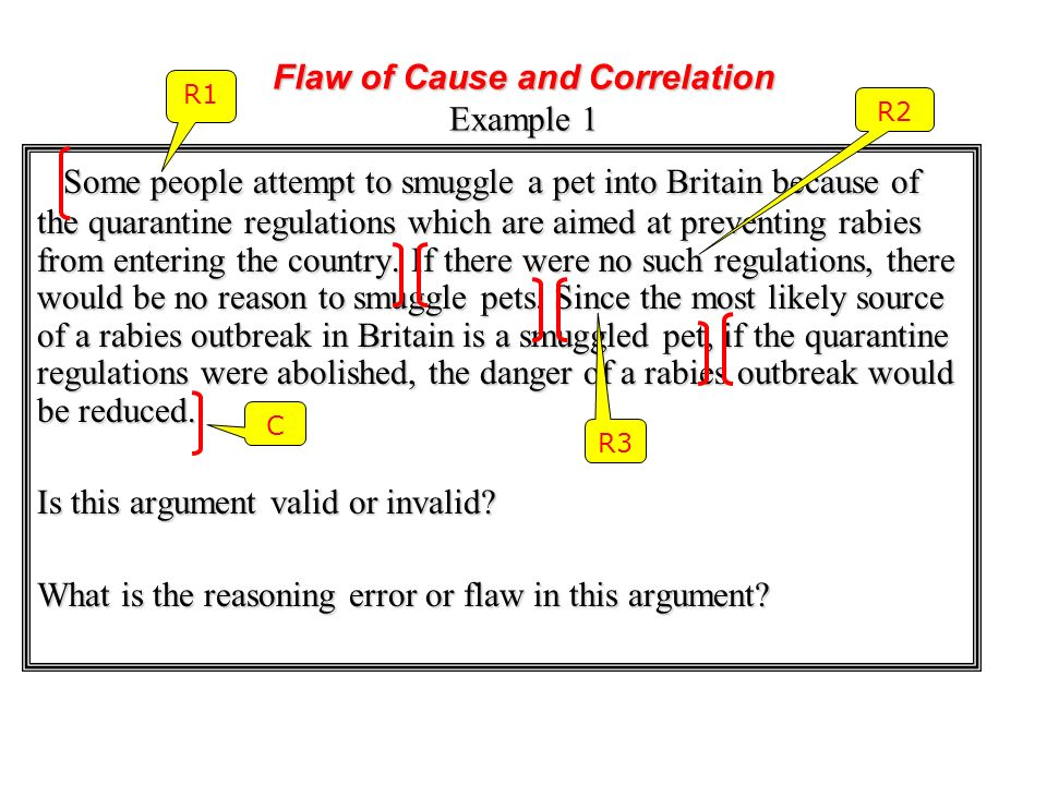 Flaw of Cause and Correlation Example 1