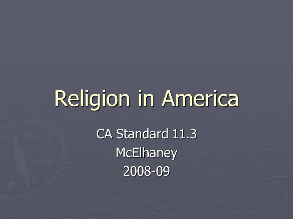 CA Standard 11.3 McElhaney 2008-09