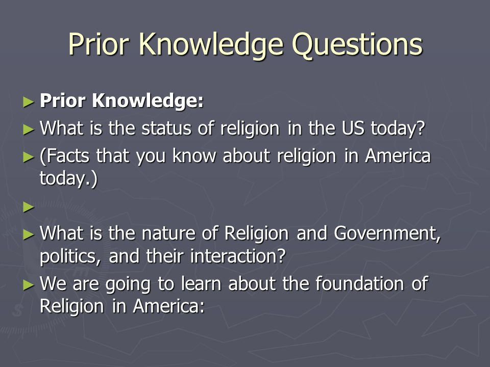 Prior Knowledge Questions