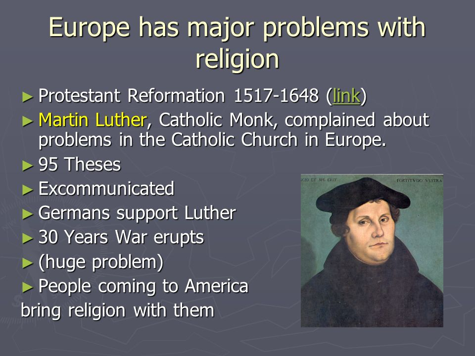 Europe has major problems with religion