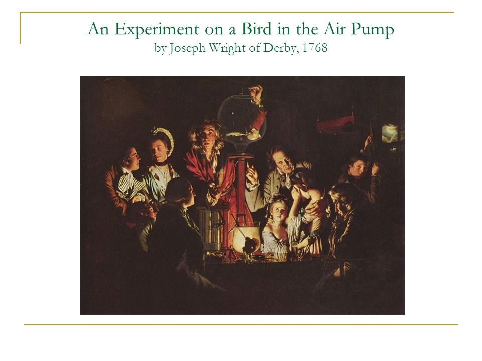 An Experiment on a Bird in the Air Pump by Joseph Wright of Derby, 1768