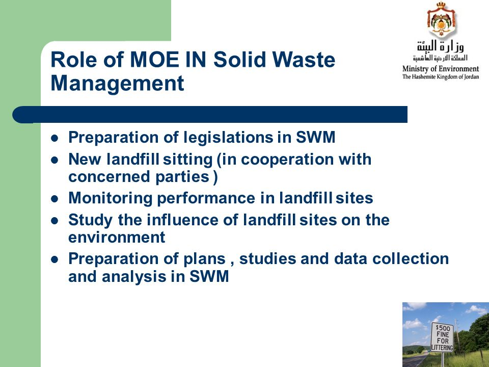 Role of MOE IN Solid Waste Management