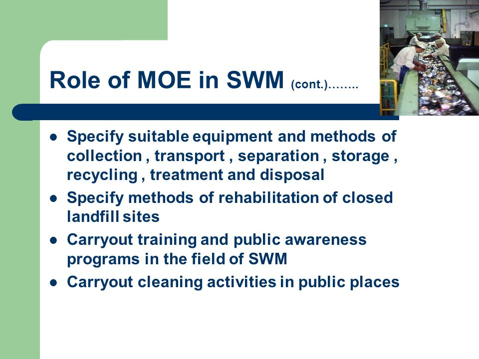 Role of MOE in SWM (cont.)……..