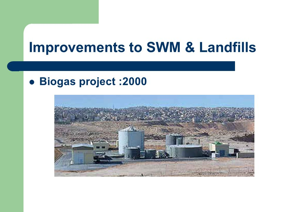 Improvements to SWM & Landfills