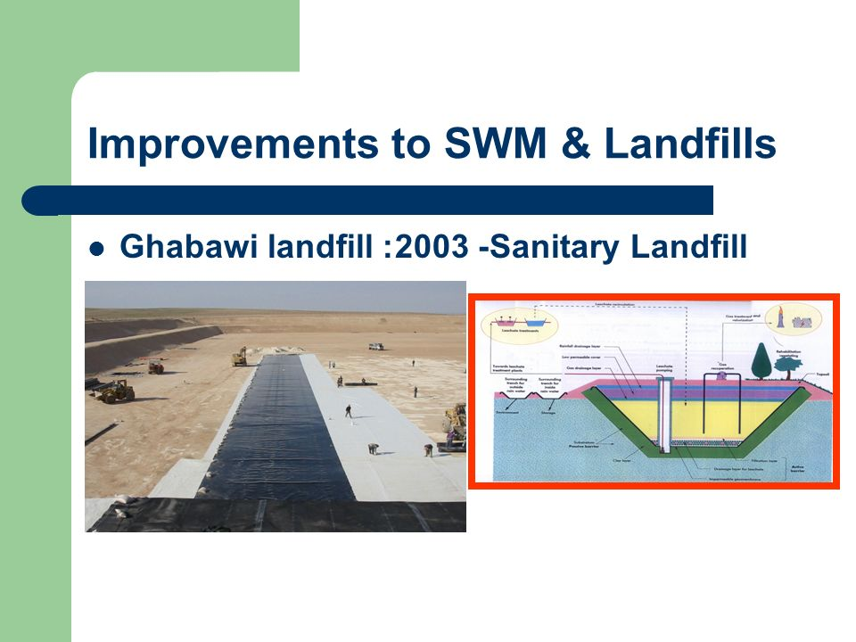 Improvements to SWM & Landfills